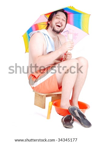 Summer vacation after recession - stock photo