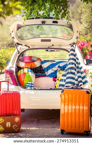 Summer vacation. Car travel concept - stock photo