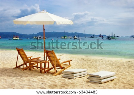 summer vacation (from my tropical sereis) - stock photo