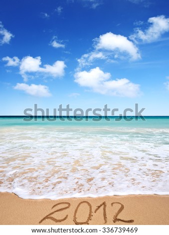 Summer vacation, in anticipation of the new year - stock photo