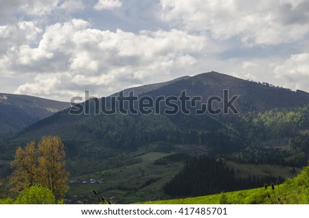 Summer vacation in the mountains. Natural mountain landscapes - stock photo