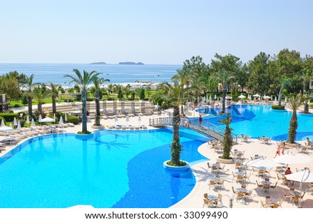 Summer vacation on Mediterranean Sea resort, Antalya, Turkey