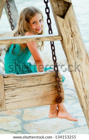 Summer vacation, summer joy  -  lovely girl in the beach resort - stock photo