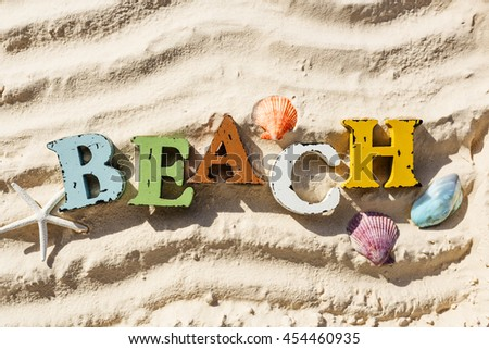 Summer Vacation Travel Beach Holiday Relax Concept - stock photo