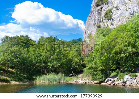 summer view of Crimea lake