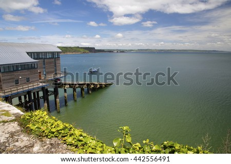 Summer View of the Lifeboat House at Tenby, Pembrokeshire, Wales, UK - stock photo