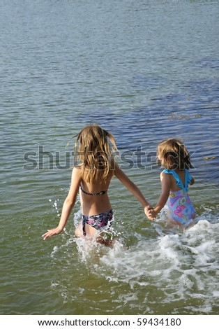Summer water joy - stock photo