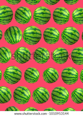 Summer Watermelon Pop Art Wallpaper