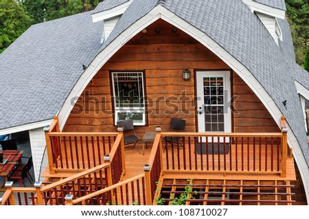 Summer wooden cabin