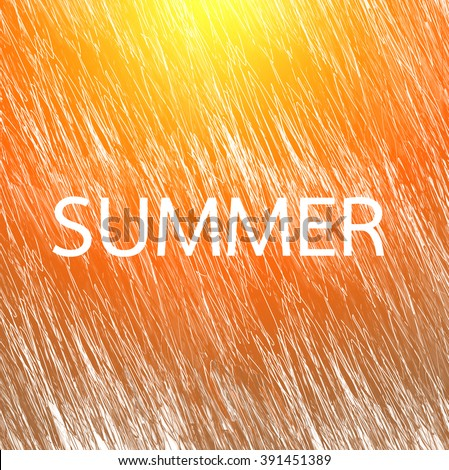 SUMMER word with Grunge scribble texture background.jpg - stock photo