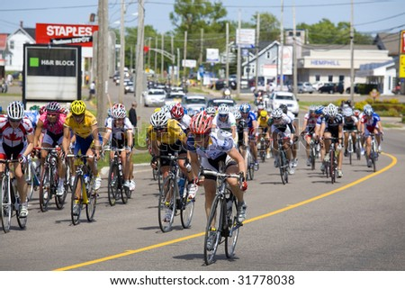 SUMMERSIDE, PRINCE EDWARD ISLAND - JUNE 7: Cycling event, the Tour de PEI featuring some of the top women cyclists in the world took place in Summerside, P.E.I., Canada on June 7, 2009.