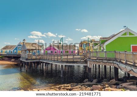 Summerside waterfront (Prince Edward Island, Canada) - stock photo