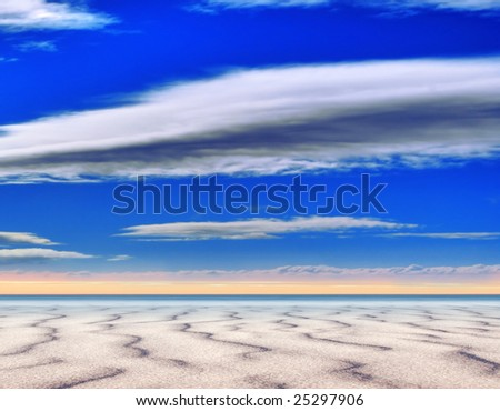 Summertime at the surreal scenic beach - stock photo