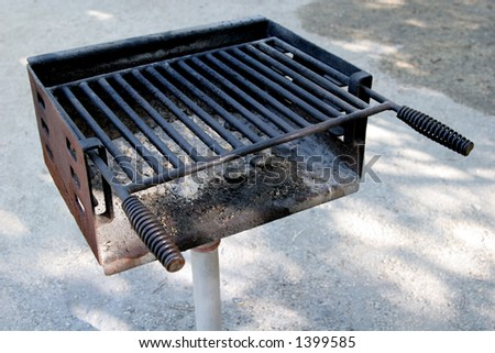 summertime barbecue at the park. - stock photo
