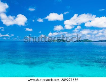 Summertime Landscape Bay  - stock photo