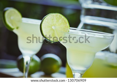 Summertime Margaritas - stock photo