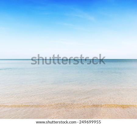 Summertime on the beach - stock photo
