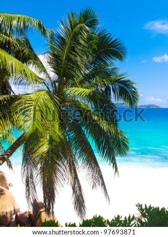 Summertime Panorama Sea - stock photo