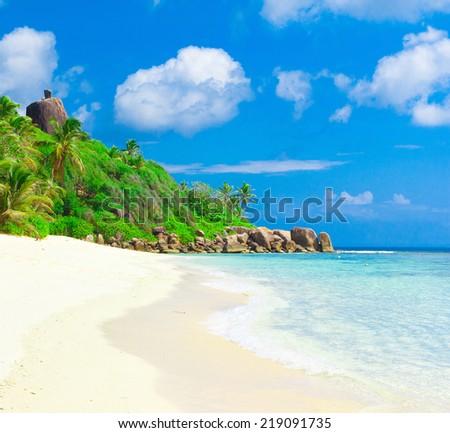 Summertime Sea Bay  - stock photo