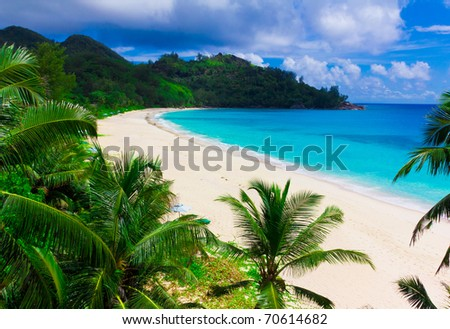 Summertime Sea Tranquility - stock photo