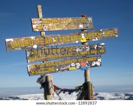 Summit Kilimanjaro - stock photo