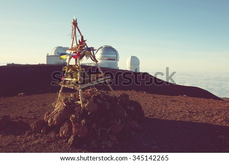 Summit Mayna Kea in Hawaii - stock photo