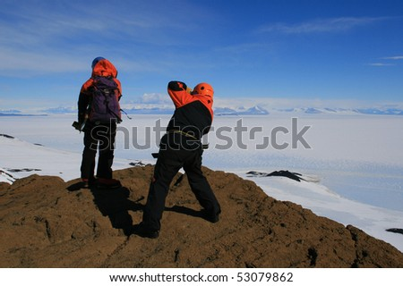 Summit of Castle Rock - stock photo