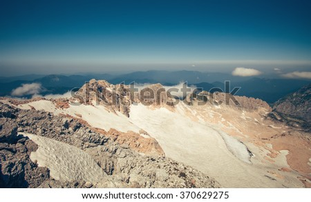 Summit of Fisht Mountain Landscape blue sky Summer Travel scenic aerial view