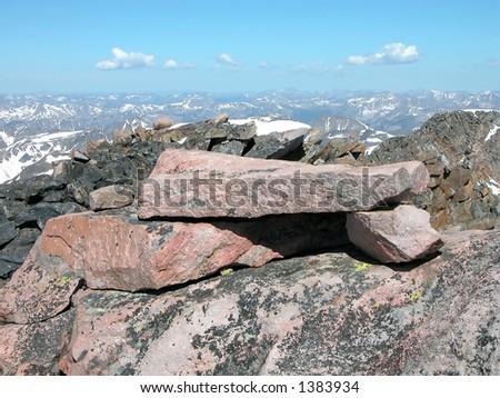Summit of Granite Peak, Montana - stock photo