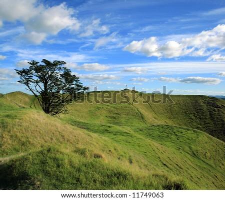 Summit of Mt Wellington Auckland - stock photo