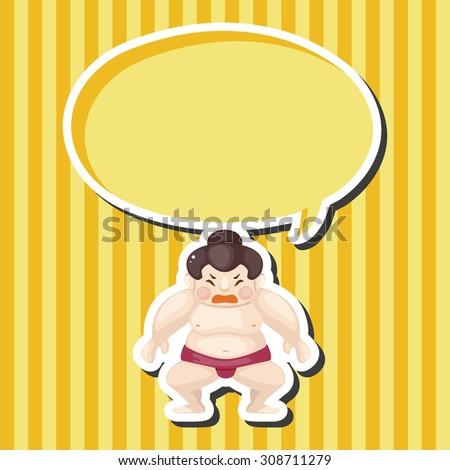 Sumo, cartoon speech icon - stock photo