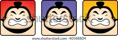 Sumo Heads - stock photo