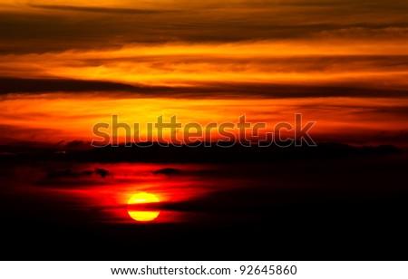Sun and cloud - stock photo