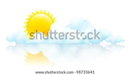 Sun and clouds, bitmap copy