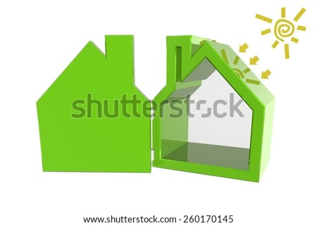 Sun and rays in your house  - stock photo