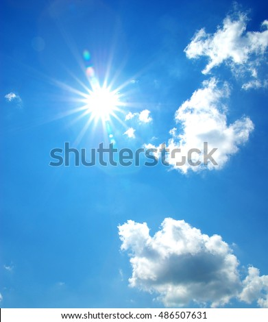sun at clear blue sky