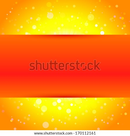 Sun background template. Raster version. - stock photo