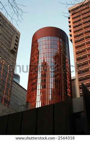 Sun Bathed Building - stock photo