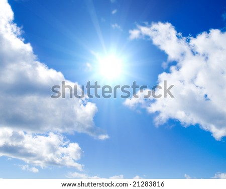 Sun between clouds
