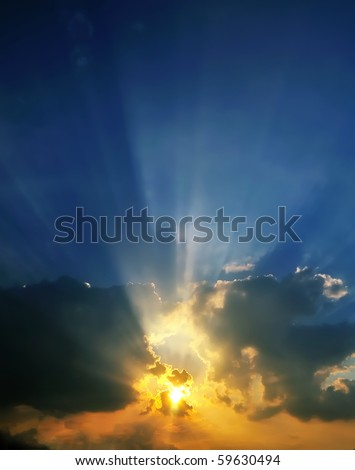 Sun Blast - stock photo