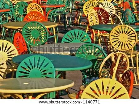 Sun burst Chairs - stock photo