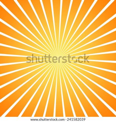 sun burst orange gradient background - stock photo