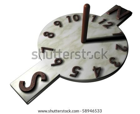 Sun clock, always exact - stock photo