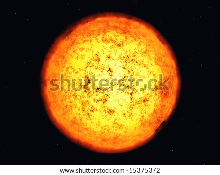 Sun corona. - stock photo