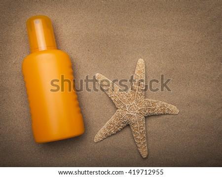 Sun cream - stock photo