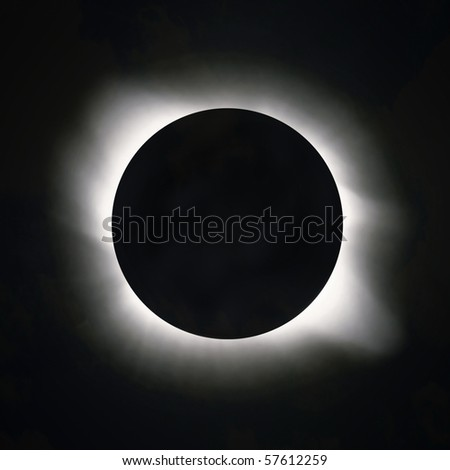 Sun eclipse - stock photo
