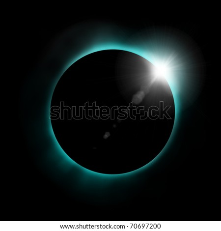 Sun eclipse - stock photo