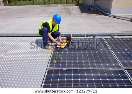 sun energy - stock photo