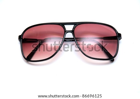 sun glasses isolated on white background - stock photo