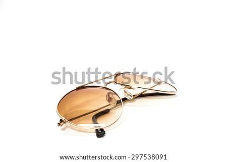 sun glasses on white background - stock photo
